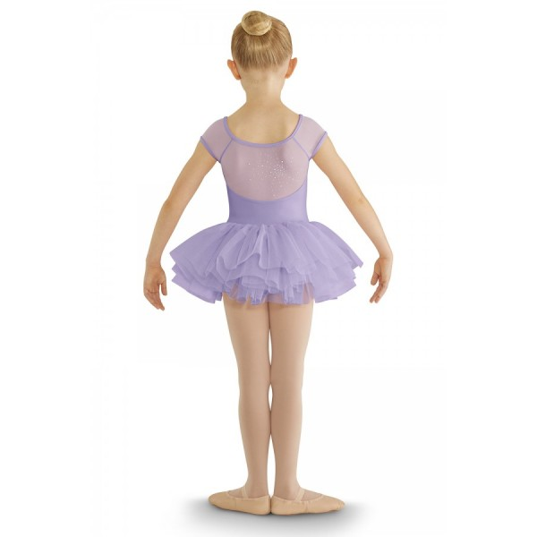 Bloch cap sleeve tutu leotard, costum de balet cu fusta tutu pentru copii