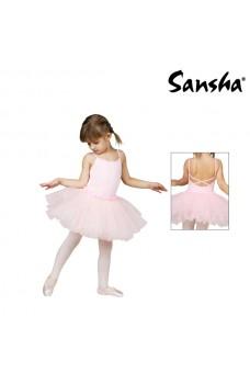Sansha Fawn Y1705C, costum de balet cu fusta pentru copii
