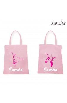 Sansha tote pungă cu imprimare de balerina pentru copii