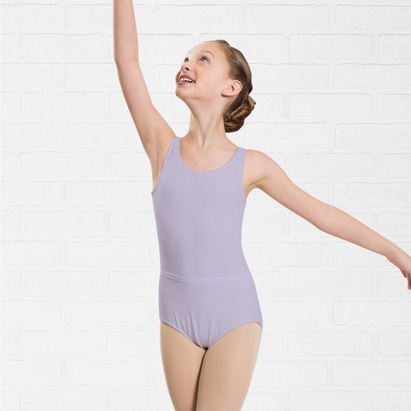 Capezio costum de balet pentru copii cu curea si bretele late