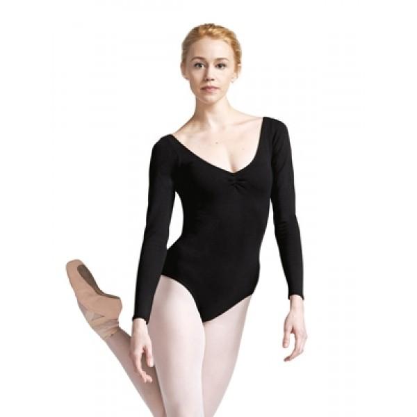 Capezio costum de balet cu mâneci lungi