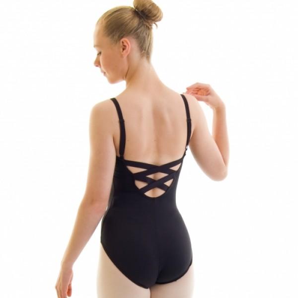 Capezio BD101, costum de balet cu curele transversale W / X