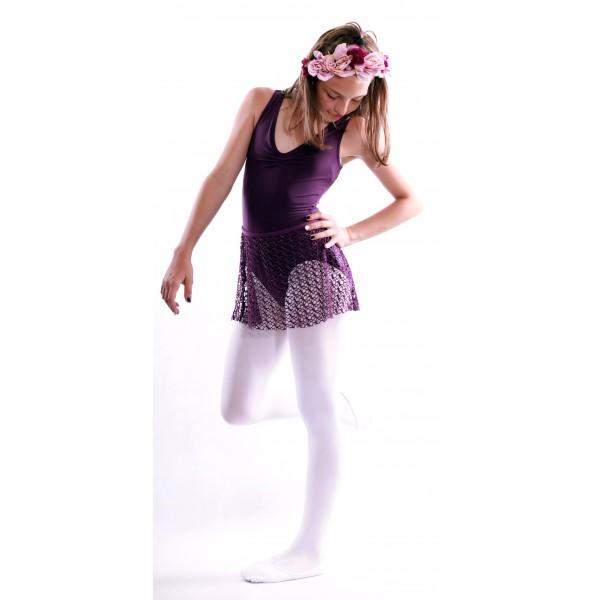 Capezio Tactel V Neck Leotard, costum de balet cu bretele late