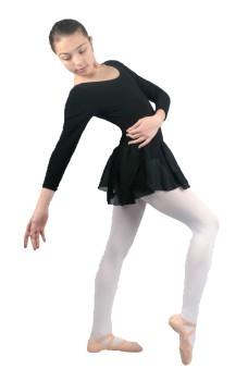 Capezio costum de balet cu fusta