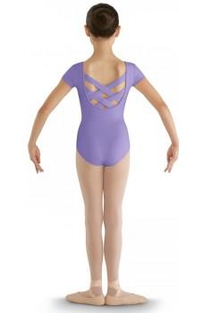 Bloch strap back cap sleeve Leotard, costum de balet pentru copii
