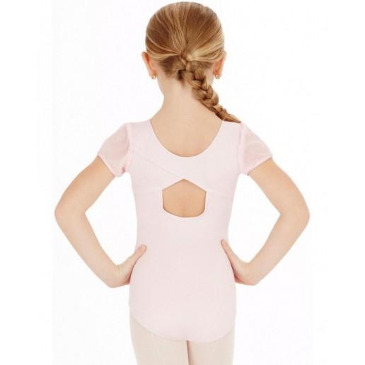 Capezio puff sleeve leotard, costum de balet pentru copii