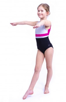 Capezio Stick the Landing Boat neck, costum de balet fara maneci