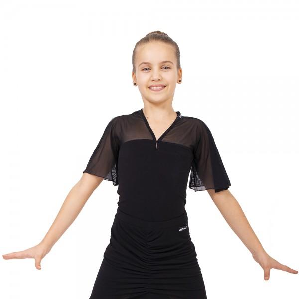 Top pentru fete cu mâneci scurte cu volănaşe