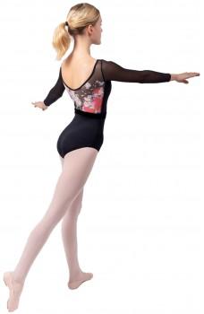 Sansha Floral, costum de balet cu maneci lungi