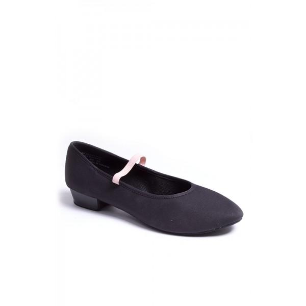 """Capezio Academy character 1"""" heel, pantofi de caracter din pânză pentru copii"""