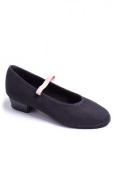 """Capezio Academy character w /1"""" heel, pantofi de caracter din pânză pentru copii"""