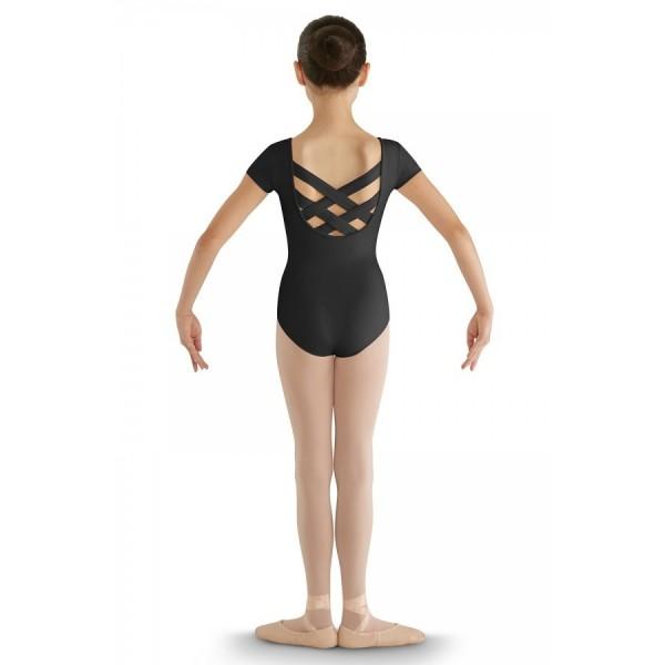 Bloch CL8832 strap back cap sleeve Leotard, costum de balet pentru copii