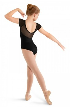 Mirella M411C Soft mesh cap sleeve Leotard, costum de balet pentru copii