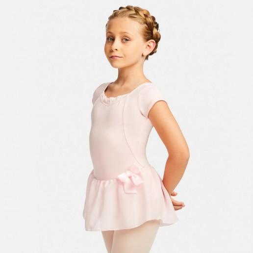 Capezio Cap Sleeve dress, costum de balet cu fusta