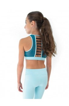 Capezio Colourblock High Neck Bra Top, sutien sport