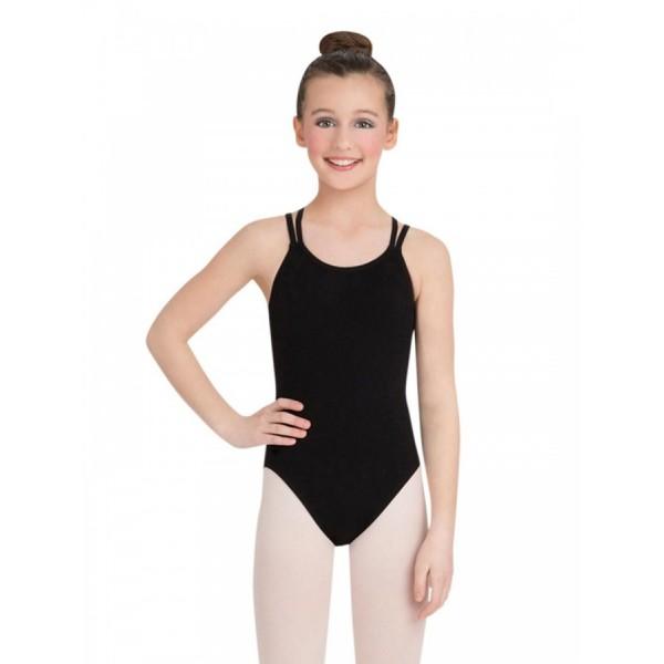 Capezio Double strap Camisole Leotard, costum de balet pentru copii
