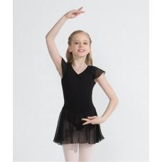 Capezio flutter sleeve dress, costum de balet cu fustă