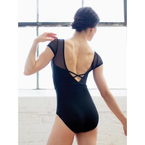 Capezio Meryl Mesh Yoke Short Sleeve, costum de balet