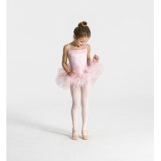 Capezio Ruffle Yoke Tutu Dress, costum de balet pentru copii cu fusta tutu