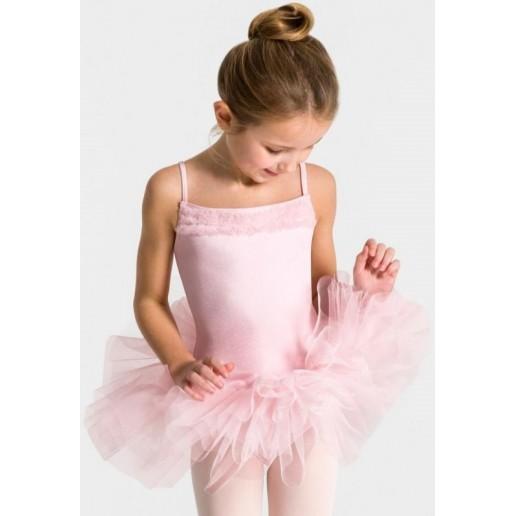 Capezio Ruffle Yoke, costum de balet pentru copii cu fusta tutu