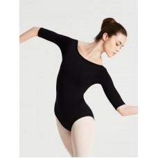 Capezio boatneck 3/4 sleeve Leotard, costum de balet