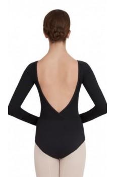 Capezio V neck long sleeve, costum de balet