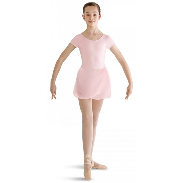 Bloch costum de balet cu mâneca scurtă cu fustă
