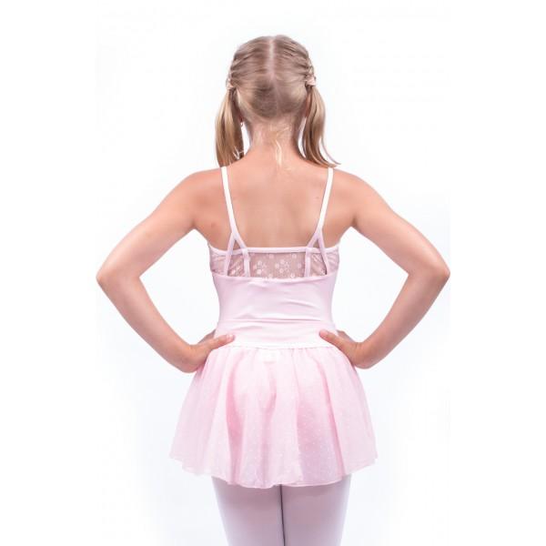 Capezio Swiss Dot Cinch Waistband Layer Skirt, fustiţă pentru fetiţe